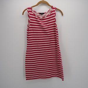 Tart Striped Sleeveless Mini Shift Tunic Dress